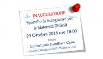 Inaugurazione Sportello di Accoglienza per le Maternità Difficili a Palermo